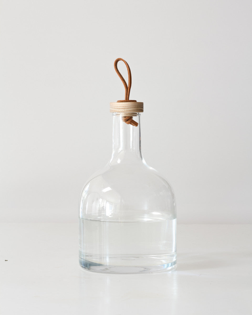 Hand-Blown Carafe w/ Ash Stopper