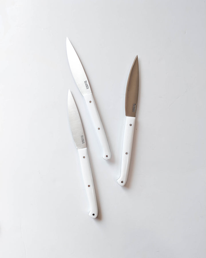 Pallares Solsona Table Knife - White Lucite