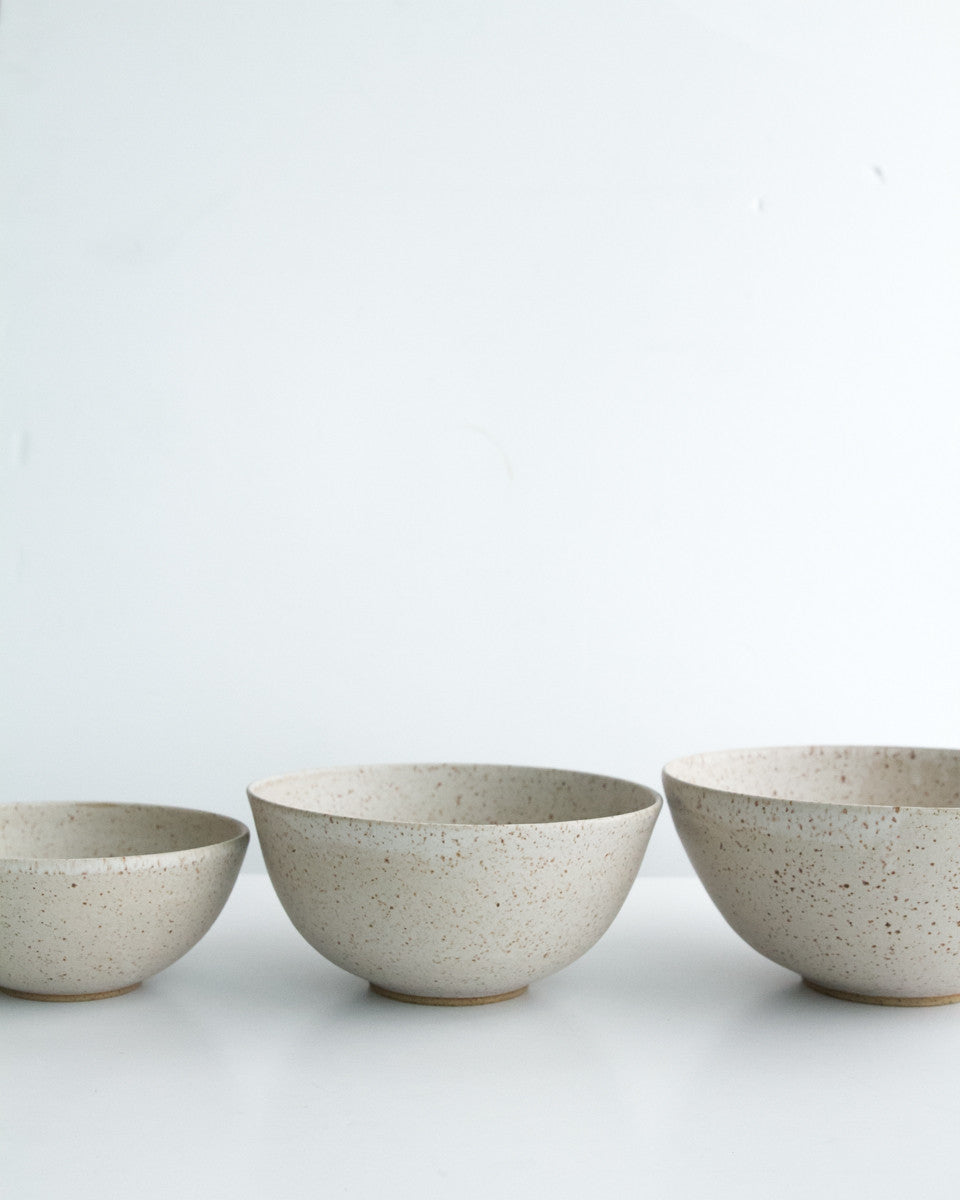 Speckled Stoneware Nesting Bowls