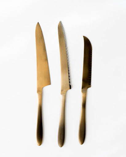 Japanese Gold Plated Knives