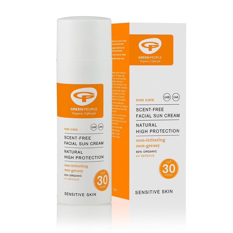 Green People Facial Sun Cream Scent-Free SPF30 50ml