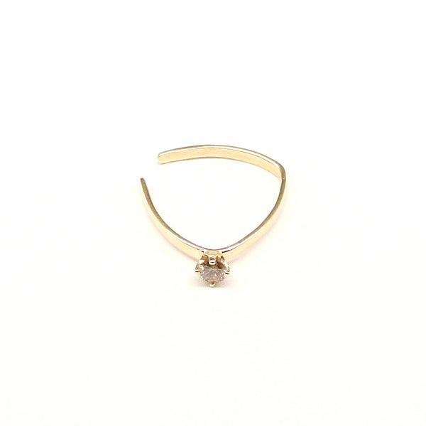 champagne diamond yellow gold ring unique rings gift