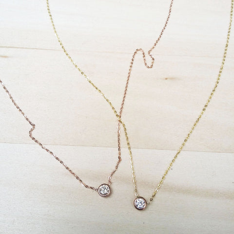 Diamond Necklace with Gold Chain
