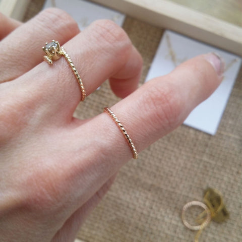 Joli Simple Dainty Stacking Band Ring Handmade to Order