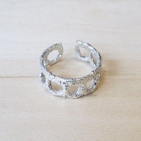 Silver Lace Ring No.8