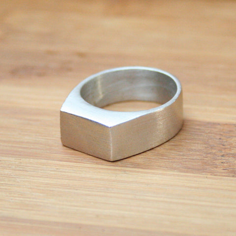 mens silver ring signature rings mens jewelry