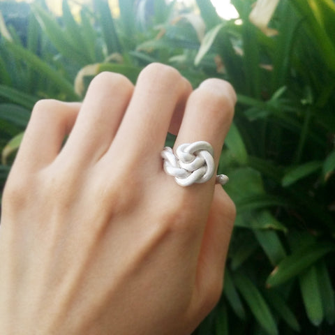 Statement Mer Ring Sterling Silver Handmade to Order