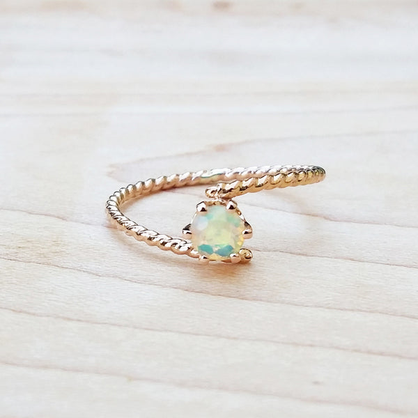 opal rose gold ring dainty rings
