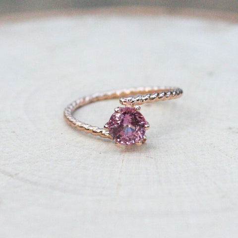 pink sapphire gold ring engagement wedding anniversary birthday rings gift for her