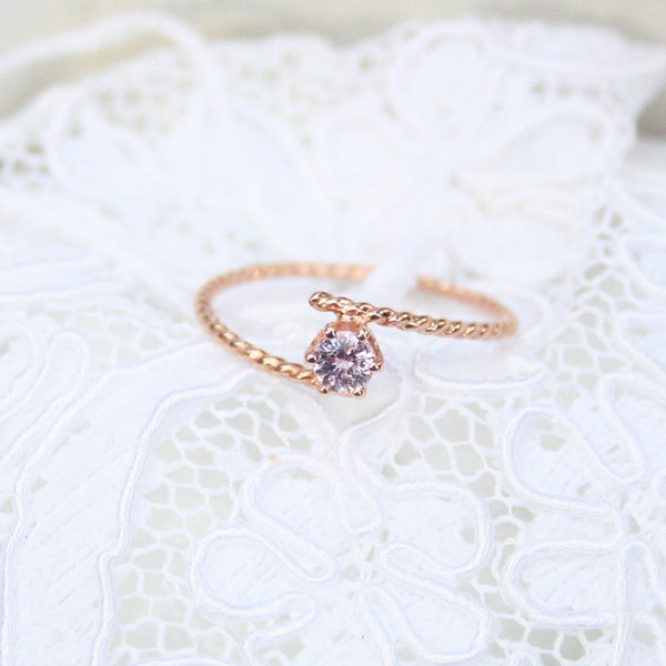 pink sapphire gold ring engagement rings gemstone solitaire bridal jewelry