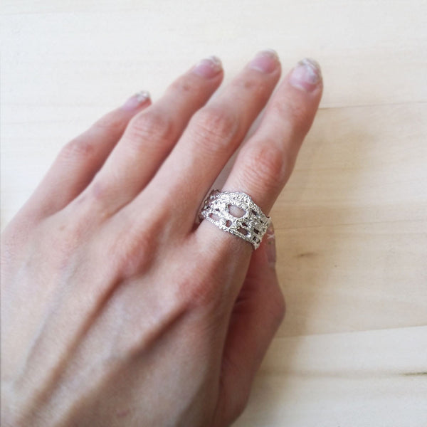Silver Lace Ring No.9