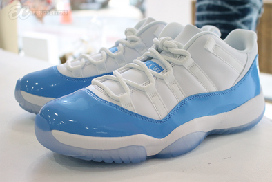 "AIR JORDAN 11 ""UNIVERSITY BLUE"" (UNC) DETAILED IMAGES"