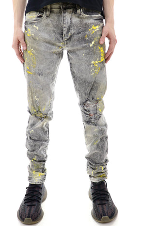 Jordan Craig Blow Out Paint Splatter Denim - ECtrendsetters