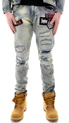 Smoke Rise Rip And Repair Denim - ECtrendsetters