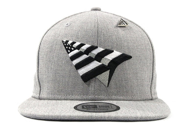 ROC NATION OLD SCHOOL CROWN GREY SNAPBACK
