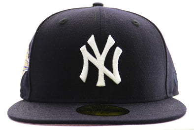 New Era 5950 NY Yankee Navy World Series Pnk Btms Fitted Hat - ECtrendsetters