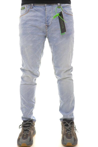 Hard Soda All Over Logo Denim (European Cut - Recommended One size Up) - ECtrendsetters