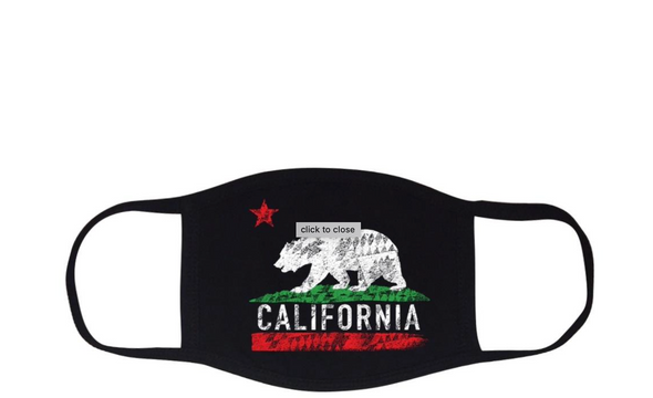 Mouth Mask Cali Bear - ECtrendsetters
