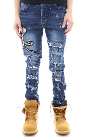 Waimea Destroyed Snake Denim - ECtrendsetters