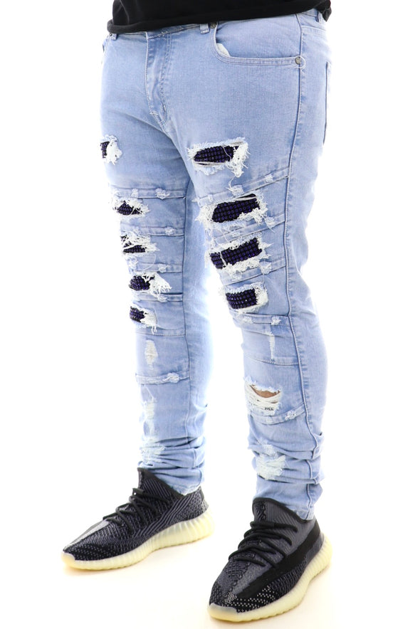 Focus Rip And Repair Ice Backing Denim - ECtrendsetters