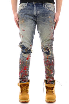 Jordan Craig Knee Ripped Painted Denim