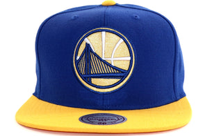 Mitchell & Ness Golden State Fused Satin Snapback