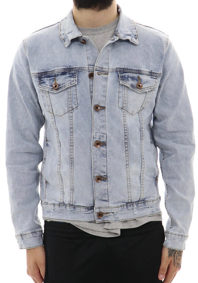Roku Studio Tear Dripping Denim Jacket - ECtrendsetters