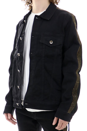 Eternity Track Studded Denim Jacket - ECtrendsetters