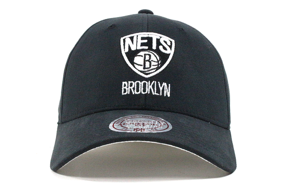 Mitchell & Ness Brookly Nets Black Flex Fit Dad Hat - ECtrendsetters