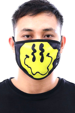 Hudson Nyc Wavey Smile Face Mask