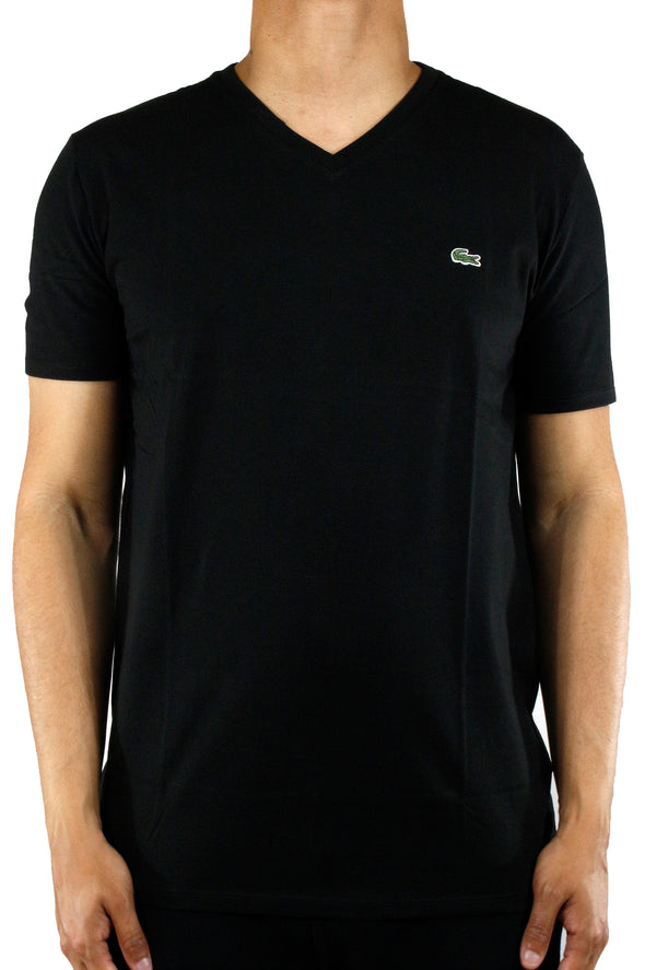 Lacoste Solid V-Neck T-shirt - ECtrendsetters