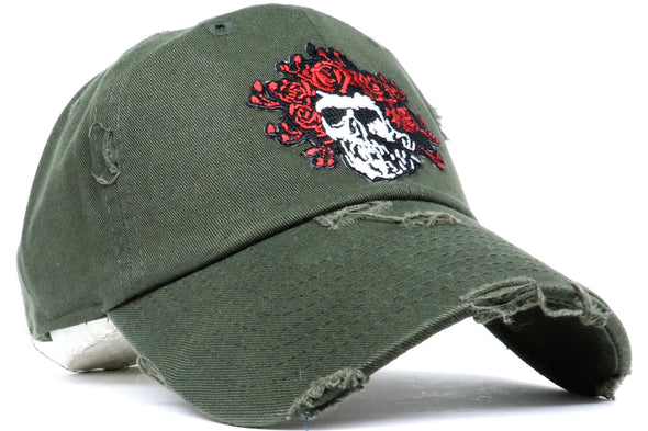 Skull Roses Dad Hat - ECtrendsetters