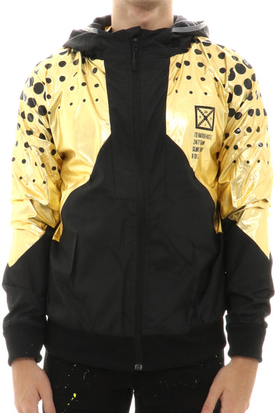 M Society Full Zip Nylon Hooded Jacket - ECtrendsetters