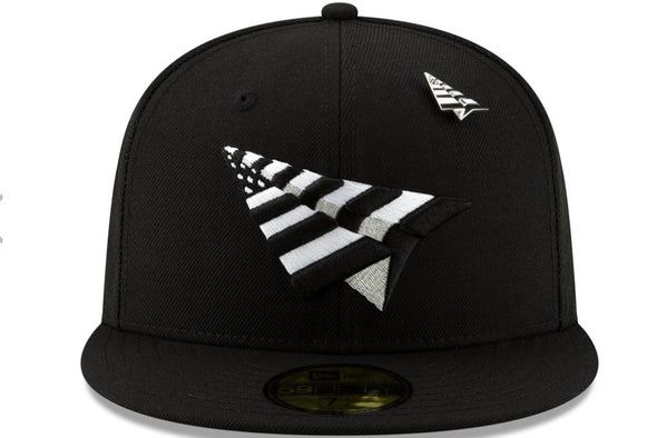 Paper Plane Crown Fitted Hat - ECtrendsetters