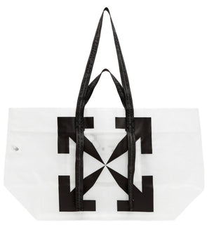Off White Arrow Pvc Tote Bag - ECtrendsetters