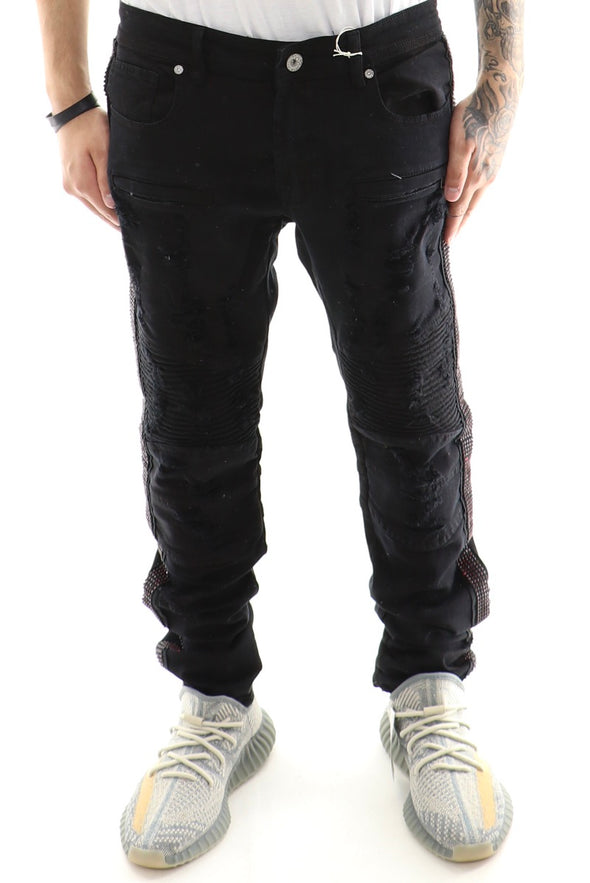Focus Iced Out Track Moto Denim - ECtrendsetters