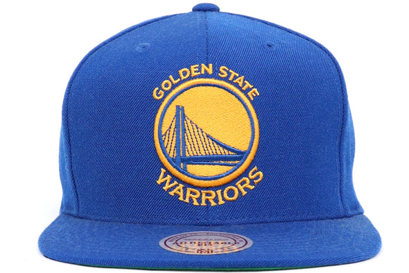 MITCHEL & NESS GOLDEN STATE WOOL SOLID SNAPBACK - ECtrendsetters
