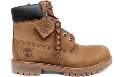 "Timberland 6"" Premium Medium Brown Nubuck Boot - ECtrendsetters"