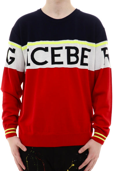 Ice Berg Sweater With Black Bold Contrast Logo - ECtrendsetters
