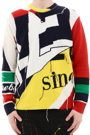 Ice Berg Multicolor Sweater With Bold Graphic. - ECtrendsetters
