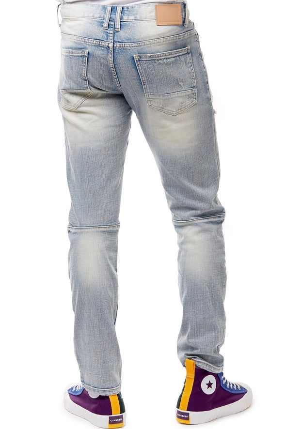 Smoke Rise Destroyed Tear Denim - ECtrendsetters