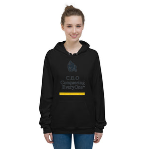 C.E.O Conquering Everyone work hard have no BS Unisex Fleece Hoodie