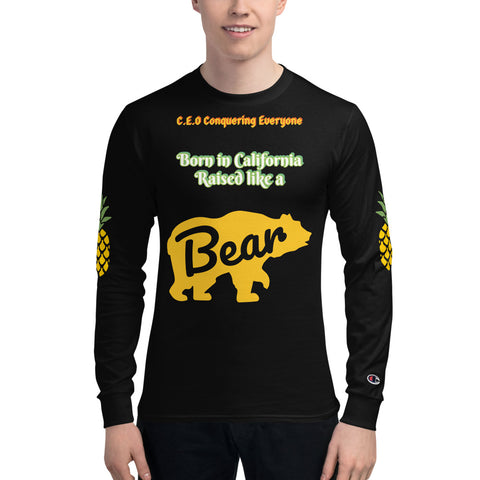 C.E.O Conquering Everyone California Bear Hungry for Pineapple Men's Champion Long Sleeve Shirt