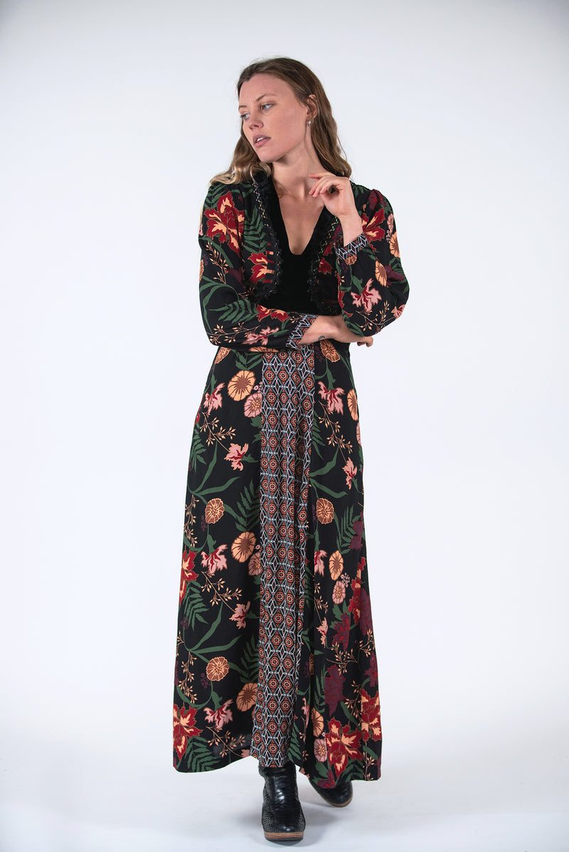 Esther Dress - Secret Garden Print / Kaleidoscope