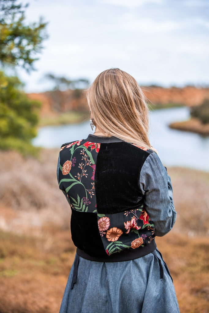 Chaqueta Bomber - Mixed Prints