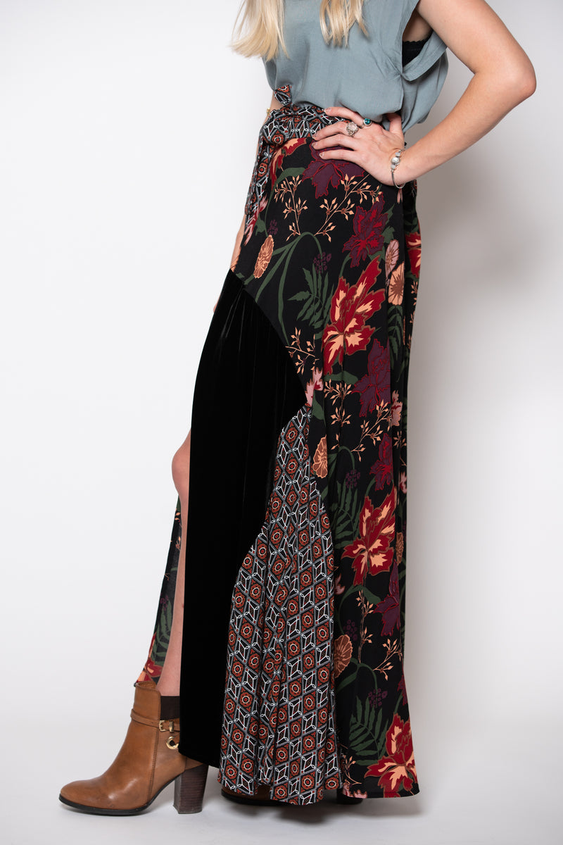 Valley Road Skirt - Secret Garden Print