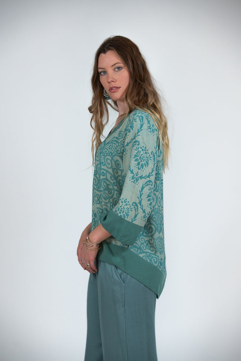 Bridget Top - Filagree Mint