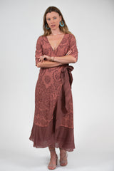 Bonny Wrap Dress - Filagree Sienna