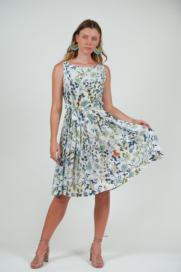 Isabella Dress - White Desert Rose