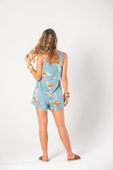 Head Over Heels Jumpsuit - Orange Cosmos
